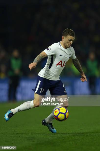 Kieran Trippier of Tottenham Hotspur in action during the Premier League match between Watford and Tottenham Hotspur at Vicarage Road on December 02...