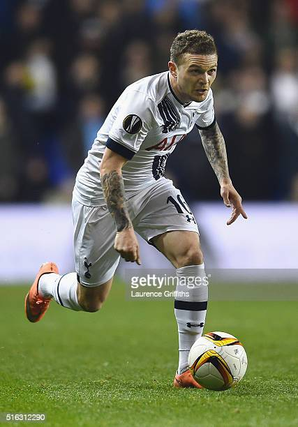 Kieran Trippier of Tottenham Hotspur in action during the UEFA Europa League Round of 16 second leg match between Tottenham Hotspur and Borussia...