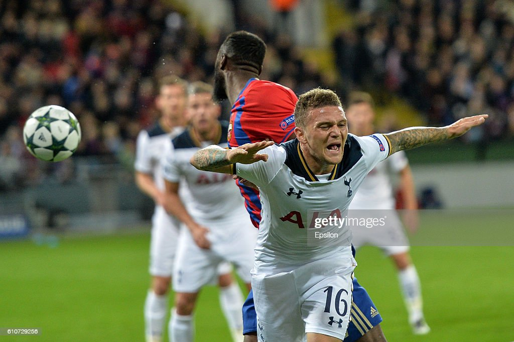 Kieran Trippier of Tottenham Hotspur in action FC during the UEFA Champions League match between PFC CSKA Moskva and Tottenham Hotspur FC at the CSKA Arena stadium on September 27, 2016 in Moscow.