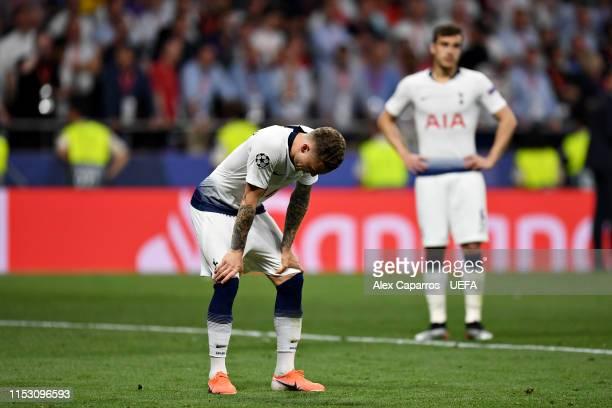 Kieran Trippier of Tottenham Hotspur looks dejected after the UEFA Champions League Final between Tottenham Hotspur and Liverpool at Estadio Wanda...