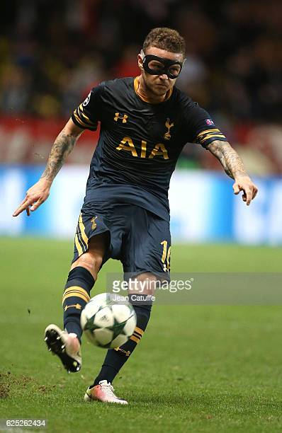 Kieran Trippier of Tottenham in action during the UEFA Champions League match between AS Monaco FC and Tottenham Hotspur FC at Stade Louis II on...
