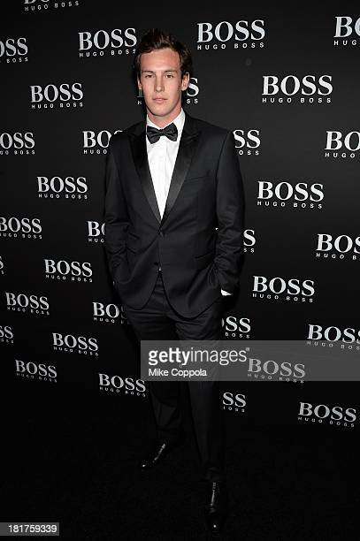 Kieren Emery attends HUGO BOSS celebrates Columbus Circle BOSS flagship opening featuring premiere of 'Anthropocene' by Marco Brambilla on September...