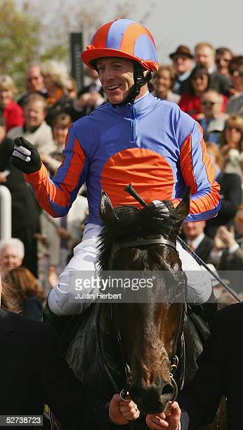 Kieren Fallon and Footstepsinthesand return after landing The ultimatepokercom 2000 Guineas Stakes Race run at Newmarket Racecourse on April 30 2005...