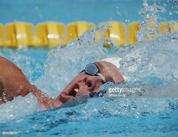 Kieren Perkins of Australia during the Men's 1500 metres Freestyle on 30 July 1992 during the XXV Summer Olympic games at the Piscines Bernat...