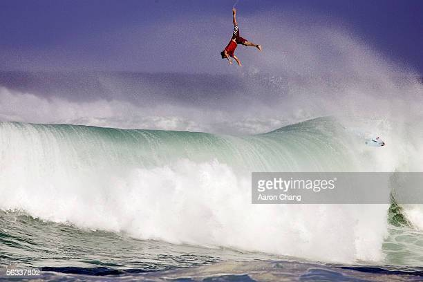Kieren Perrow of Byron Bay Australia competes during the O'Neill World Cup Of Surfing part of the Vans Triple Crown of Surfing on December 5 2005 at...