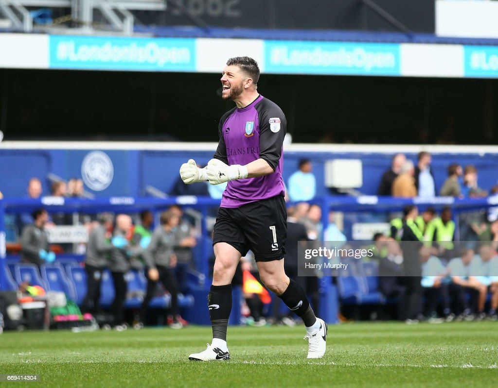 Kieren Westwood of Sheffield Wednesday celebrates his team's second goal during the Sky Bet Championship match between Queens Park Rangers and Sheffield Wednesday at Loftus Road on April 17, 2017 in London, England.