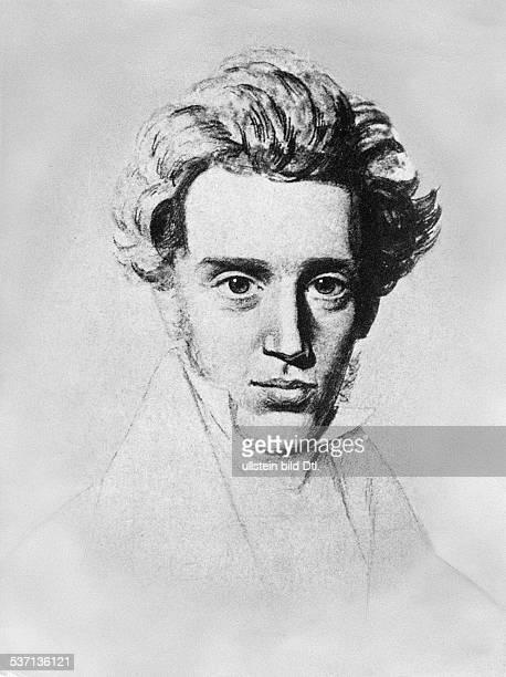 Kierkegaard, Soeren, 1813-1855, portrait, - 1836
