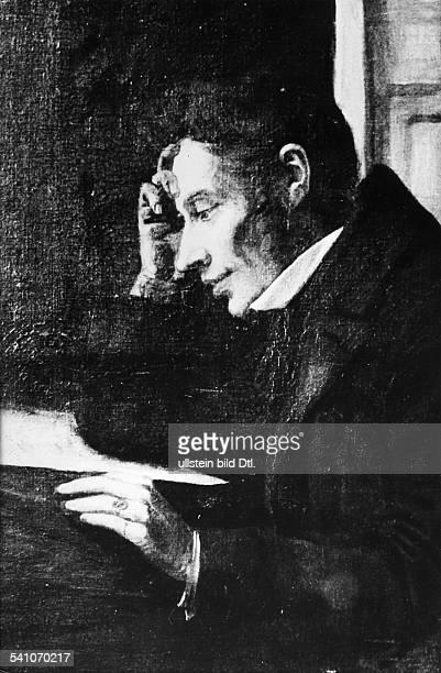 Kierkegaard, Soeren*05.05.1813-11.11.1855+Philosoph, Theologe, DK- Portrait, Gemaelde- undatiert