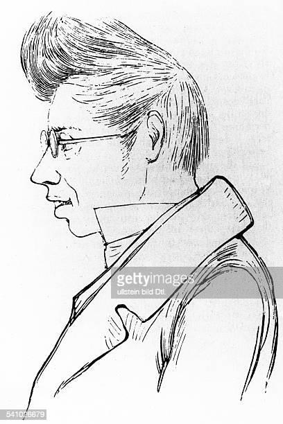 Kierkegaard, Soeren1813-1855wood engraving 1836