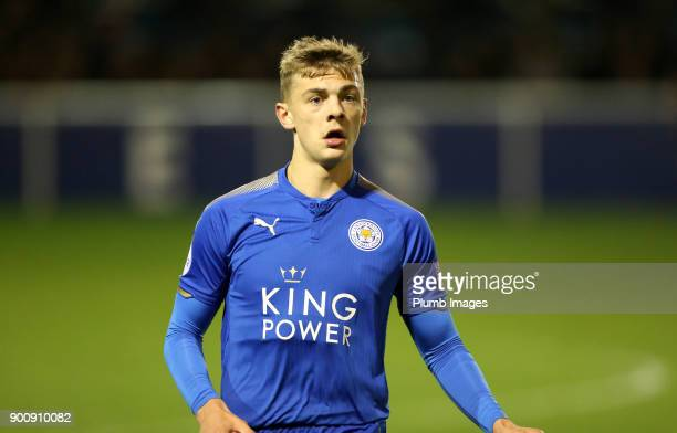 Kiernan DewsburyHall of Leicester City during the Premier League 2 match between Leicester City and Tottenham Hotspur at Holmes Park on January 3rd...