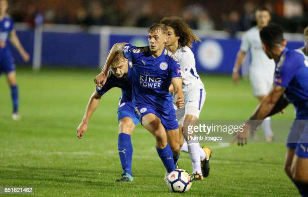 Kiernan DewsburyHall of Leicester City in action during the Premier League 2 match between Leicester City and Chelsea at Holmes Park on September...