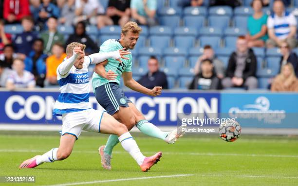 Kiernan Dewsbury-Hall of Leicester City scores to make it 2-1 during The Pre-Season Friendly between Queens Park Rangers and Leicester City at The...