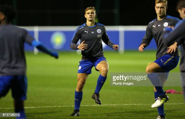 Kiernan DewsburyHall of Leicester City warms up at Holmes Park ahead of the Premier League Cup tie between Leicester City and Portsmouth at Holmes...
