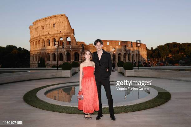 Kiernan Shipka and Christian Coppola attend the Cocktail at Fendi Couture Fall Winter 2019/2020 on July 04 2019 in Rome Italy