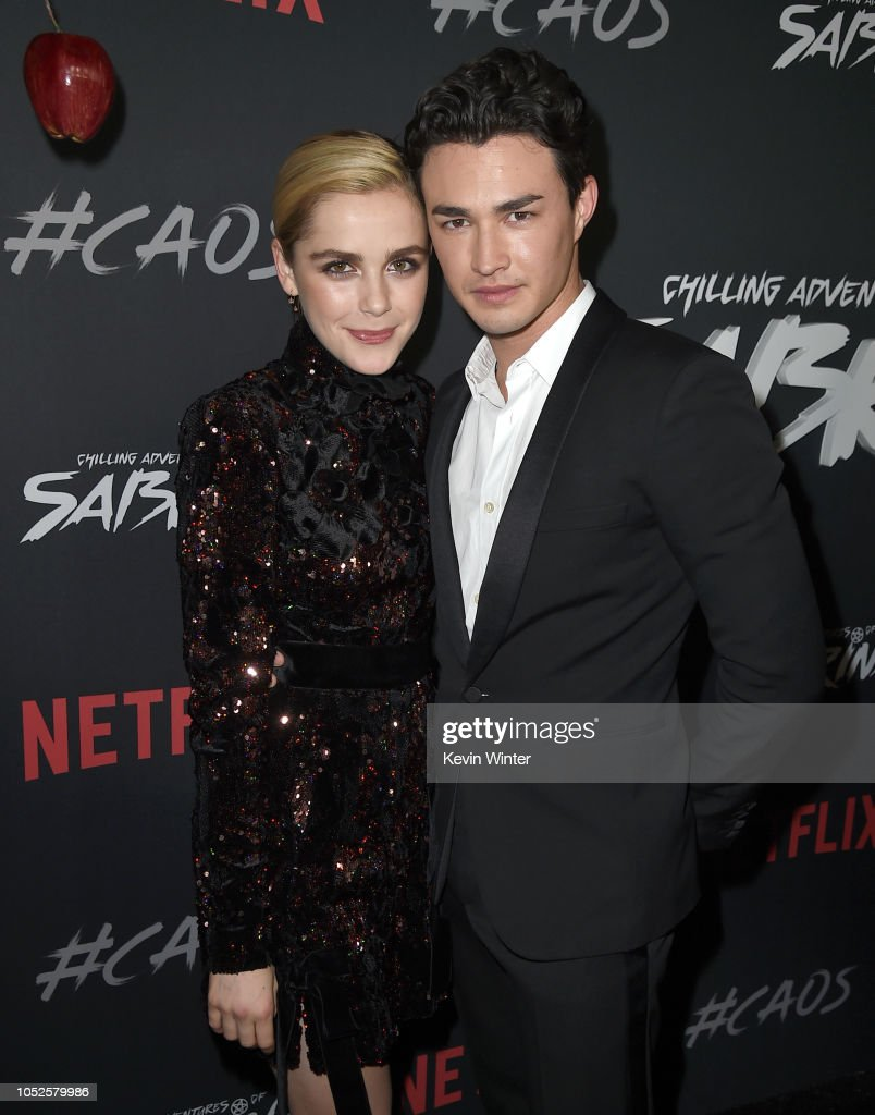 """Premiere Of Netflix's """"Chilling Adventures Of Sabrina"""" - Red Carpet : News Photo"""