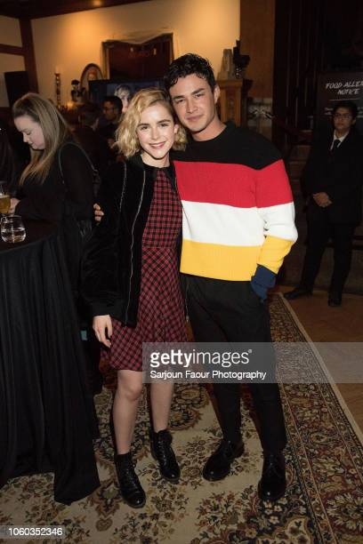 Kiernan Shipka and Gavin Leatherwood attend the special preview of Netflix's original series 'Chilling Adventures of Sabrina' at the Spellman House...