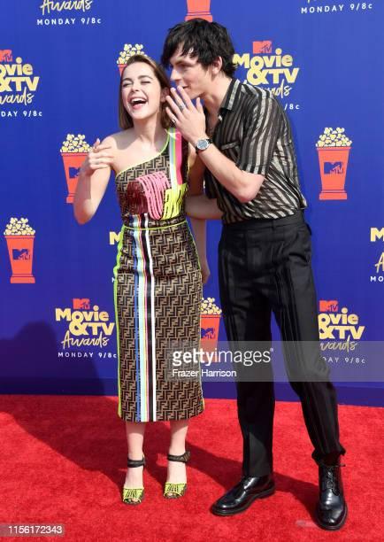 Kiernan Shipka and Ross Lynch attend the 2019 MTV Movie and TV Awards at Barker Hangar on June 15 2019 in Santa Monica California