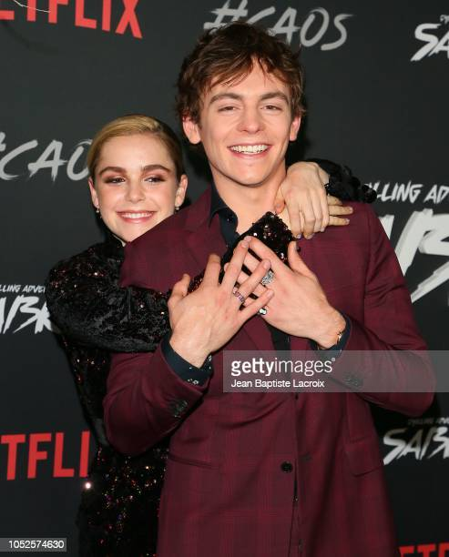 Kiernan Shipka and Ross Lynch attend the premiere of Netflix's 'Chilling Adventures of Sabrina' at Hollywood Athletic Club on October 19 2018 in...