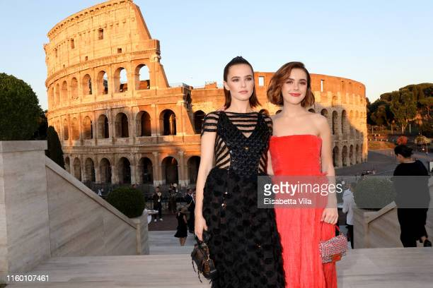 Kiernan Shipka and Zoey Deutch attend the Cocktail at Fendi Couture Fall Winter 2019/2020 on July 04 2019 in Rome Italy