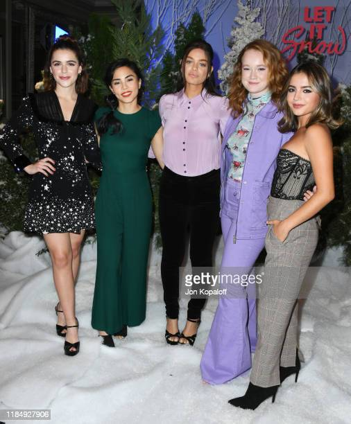Kiernan Shipka Anna Akana Odeya Rush Liv Hewson and Isabela Merced attend the photocall for Netflix's Let It Snow at the Beverly Wilshire Four...