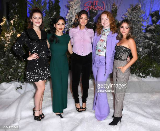 Kiernan Shipka Anna Akana Odeya Rush Liv Hewson and Isabela Moner arrives at the Photocall For Netflix's Let It Snow at the Beverly Wilshire Four...