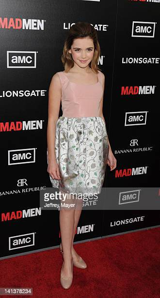 Kiernan Shipka arrives at AMC's 'Mad Men' Season 5 Premiere at ArcLight Cinemas Cinerama Dome on March 14 2012 in Hollywood California
