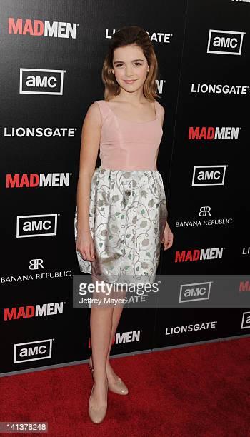 Kiernan Shipka arrives at AMC's 'Mad Men' Season 5 Premiere at ArcLight Cinemas Cinerama Dome on March 14, 2012 in Hollywood, California.