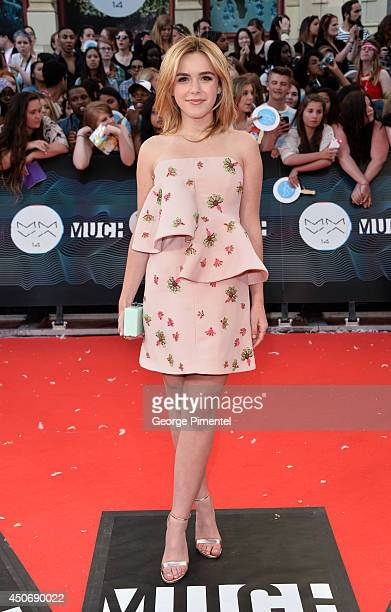Kiernan Shipka arrives at the 2014 MuchMusic Video Awards at MuchMusic HQ on June 15, 2014 in Toronto, Canada.
