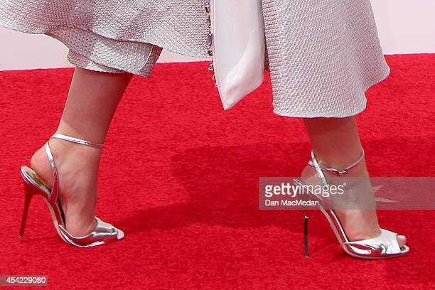 Kiernan Shipka arrives at the 66th Annual Primetime Emmy Awards at Nokia Theatre LA Live on August 25 2014 in Los Angeles California