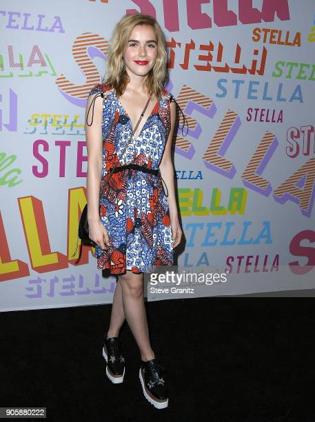 Kiernan Shipka arrives at the Stella McCartney's Autumn 2018 Collection Launch on January 16 2018 in Los Angeles California