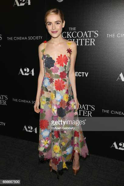 Kiernan Shipka attends A24 and DirecTV with The Cinema Society Host a Screening of The Blackcoat's Daughter on March 22 2017 in New York City