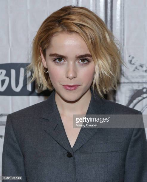 Kiernan Shipka attends Build Series to discuss the series The Chilling Adventures of Sabrina at Build Studio on October 15 2018 in New York City