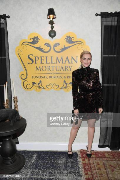 Kiernan Shipka attends Netflix Original Series Chilling Adventures of Sabrina red carpet and premiere event on October 19 2018 in Los Angeles...