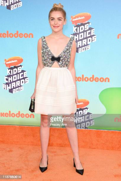 Kiernan Shipka attends Nickelodeon's 2019 Kids' Choice Awards at Galen Center on March 23 2019 in Los Angeles California
