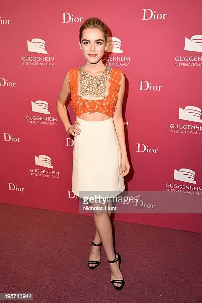 Kiernan Shipka attends the 2015 Guggenheim International Gala PreParty made possible by Dior at Solomon R Guggenheim Museum on November 4 2015 in New...
