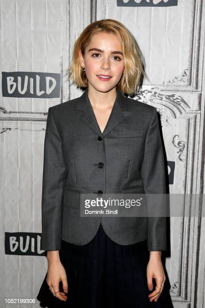 Kiernan Shipka attends the Build Series to discuss Chilling Adventures of Sabrina at Build Studio on October 15 2018 in New York City