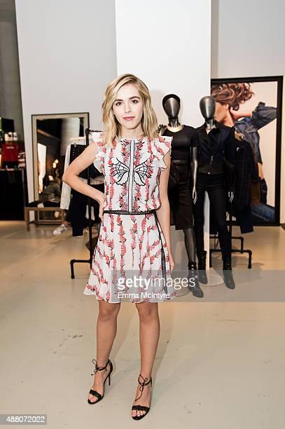 Kiernan Shipka attends the Guess Portrait Studio at the Toronto International Film Festival on September 13 2015 in Toronto Canada