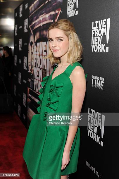 Kiernan Shipka attends the Live From New York Los Angeles premiere at Landmark Theatre on June 10 2015 in Los Angeles California