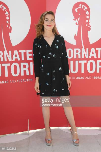 Kiernan Shipka attends the 'Miu Miu Women's Tales' photocall during the 74th Venice Film Festival at on August 31 2017 in Venice Italy