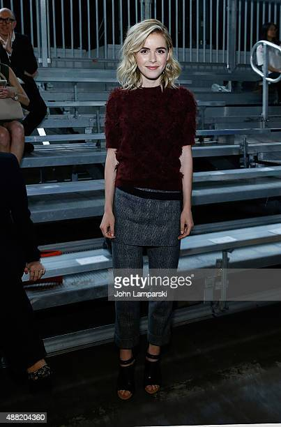 Kiernan Shipka attends the Phillip Lim collection during Spring 2016 New York Fashion Week at Pier 94 on September 14, 2015 in New York City.