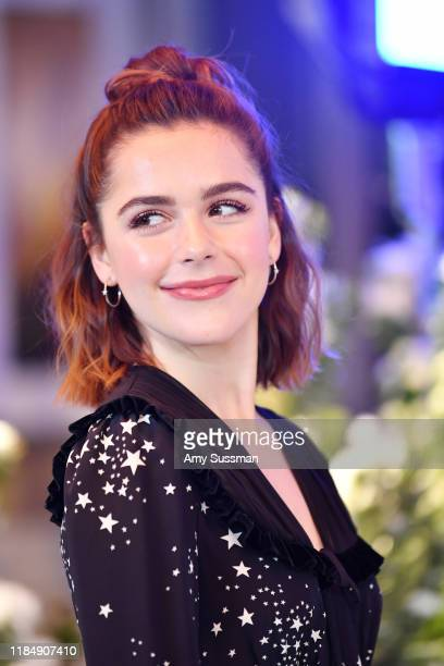 Kiernan Shipka attends the photocall for Netflix's Let It Snow at the Beverly Wilshire Four Seasons Hotel on November 01 2019 in Beverly Hills...
