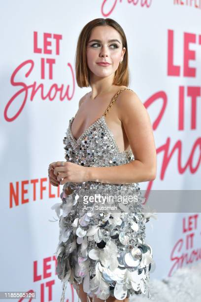 Kiernan Shipka attends the premiere of Netflix's Let It Snow at Pacific Theatres at The Grove on November 04 2019 in Los Angeles California