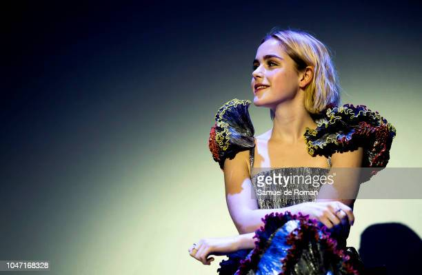 Kiernan Shipka attends the Q A press and Audience of Netflix's 'Chilling Adventures of Sabrina' at Auditorio Melia on October 7 2018 in Sitges Spain