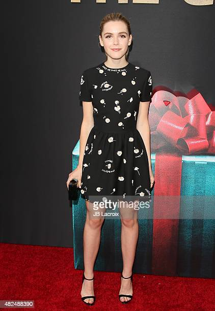 Kiernan Shipka attends the STX Entertainment's The Gift Los Angeles premiere at Regal Cinemas LA Live on July 30 2015 in Los Angeles California