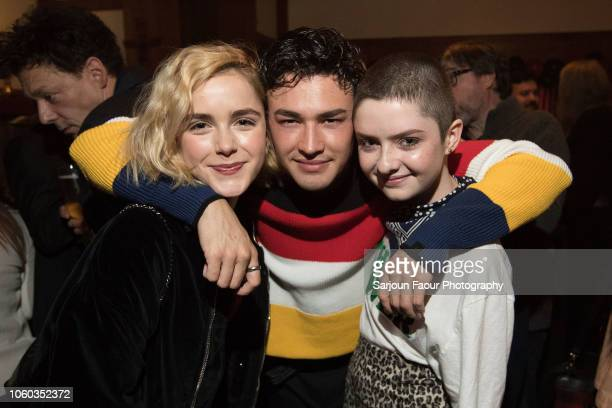 Kiernan Shipka Gavin Leatherwood and Lachlan Watson attend the special preview of Netflix's original series 'Chilling Adventures of Sabrina' at the...