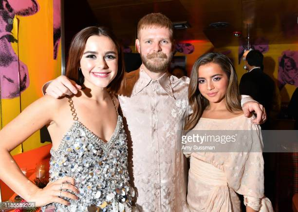 Kiernan Shipka Luke Snellin and Isabela Moner attend the after party for Netflix's Let It Snow at Swingers on November 04 2019 in Los Angeles...