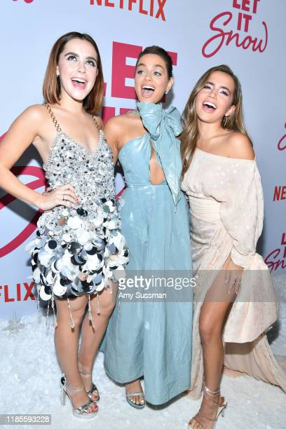 Kiernan Shipka Odeya Rush and Isabela Moner attend the premiere of Netflix's Let It Snow at Pacific Theatres at The Grove on November 04 2019 in Los...