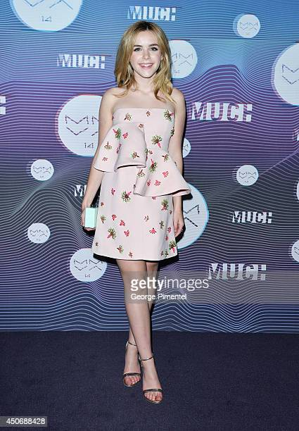 Kiernan Shipka poses in the press room at the 2014 MuchMusic Video Awards at MuchMusic HQ on June 15 2014 in Toronto Canada