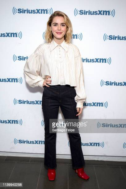 Kiernan Shipka visits SiriusXM Studios on April 02 2019 in New York City