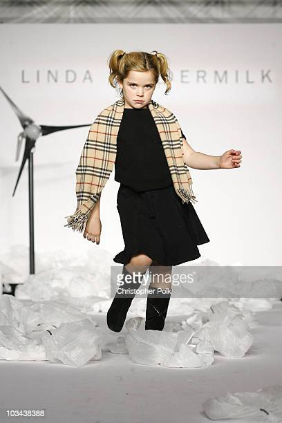 Kiernan Shipka walks the runway at the Linda Loudermilk Fashion Show Presenting Luxury Eco Spring 2008 Collection at the BP Helios House on October...